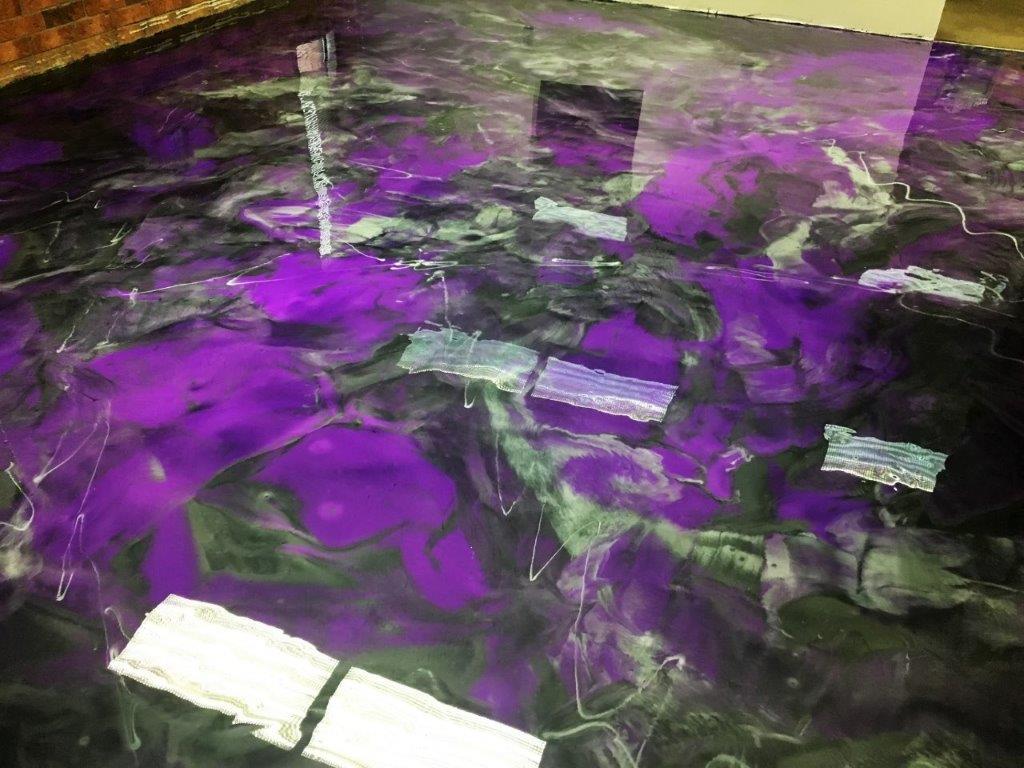 Purple Titanium Gunmetal Cp Metallic Floor The Epoxy