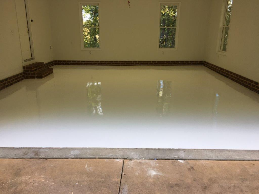Pure White Epoxy Floor The Epoxy Floor Company