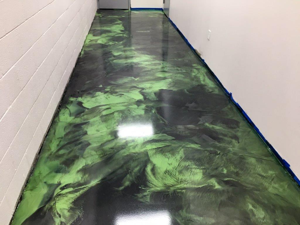 Green And Titanium Metallic Epoxy Floor The Epoxy Floor